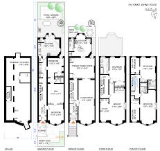 Brooklyn Brownstone Floor Plans Grand Spacious Four Story North Slope Brownstone Asks 3 895