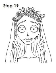 how to draw corpse bride emily