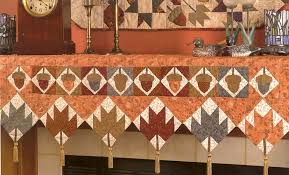 table runners mantel quilts key to edges stitch this