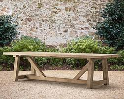 Farmhouse Patio Furniture Outdoor Table Etsy