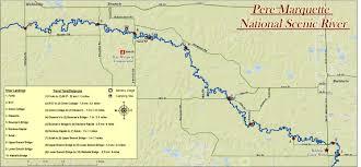 Michigan River Map by Baldwin Canoe Rental