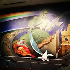 Denver Airport Murals Conspiracy Theory by This Is A 50 Foot Statue Outside Of Denver International Airport