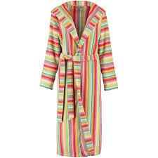 robe de chambre eponge femme peignoir de bain é à capuche col châle en éponge femme cawö