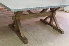 zinc table tops for sale zinc tables and metal bases ecustomfinishes