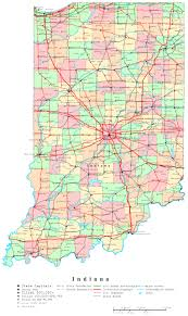 Kentucky Map With Cities Indiana Printable Map