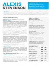 Free One Page Resume Template Resume Template 2 Page Example Format Best One In Examples 81