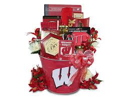 wisconsin gift baskets wisconsin badgers fan gift basket badger gifts wisconsin badger