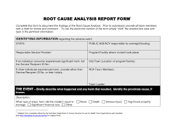 service review report template business review report template new remarkable root cause analysis