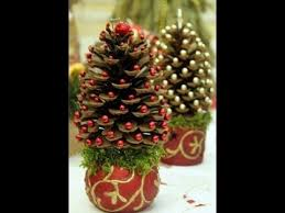 diy christmas tree from pine cone craft ideas youtube
