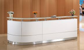 Small Salon Reception Desk Office Small Hair Salon Modern White Half Round Salon Reception