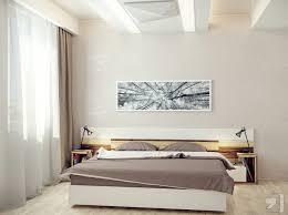 small modern bedroom white