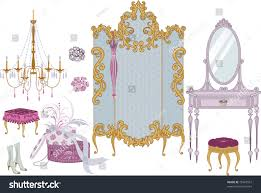 decor items dressing room victorian style stock vector 79361557