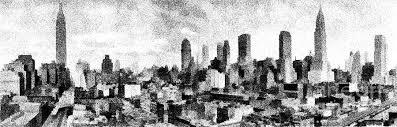 new york city skyline sketch digital art by edward fielding