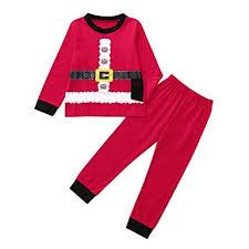 Amazoncom 2018 Clearance Kids Christmas Party Outfits Set Pajama