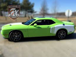 Dodge Challenger Green - dodge challenger stripes racing stripes r t graphics u2013 streetgrafx