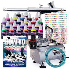 pointzero complete airbrush nail art kit 24 color 480 stencil