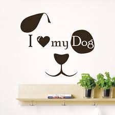 wall decal quote i love my dog face art kids pet shop decor wall decal quote i love my dog face art kids pet shop decor sticker murals am114