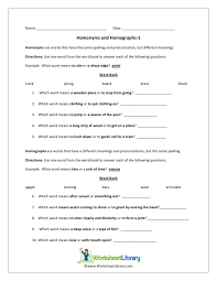 homonyms and homographs worksheet free worksheets library