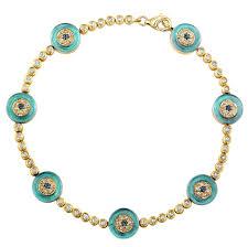 gold evil eye bracelet images 14k yellow gold diamond sapphire evil eye tennis b jpg