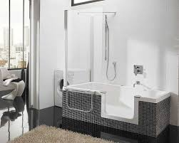 Shower And Tub Combo For Small Bathrooms Bathtubs Idea Astounding Corner Shower Tub Combo Kohler Corner