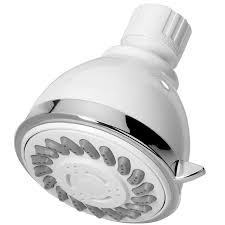 Lowes Shower Head Shop Aquasource White 3 Spray Shower Head At Lowes Com