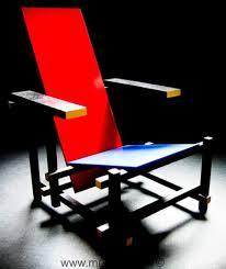 chaise rietveld fauteuil bleu par gerrit rietveld meuble design