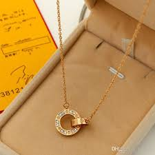 gold engraved necklace wholesale luxury brand gold personalized necklace trendy