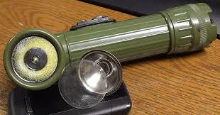 old army flashlight updated to modern technology