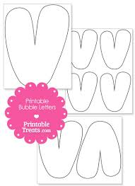 printable bubble letter v template u2014 printable treats com