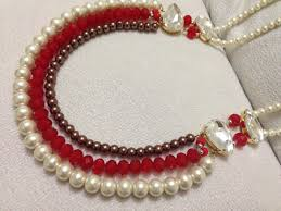 Beaded Home Decor How To Make Necklace Diy Beaded Necklace Pearl Jewelry Youtube