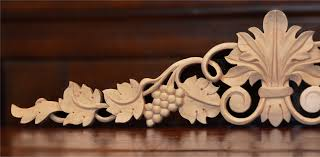 grape vine wood carving and madera wood carvings