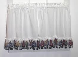 Birdhouse Shower Curtain Country Birdhouses Ruffled Valance Window Curtain Window Toppers