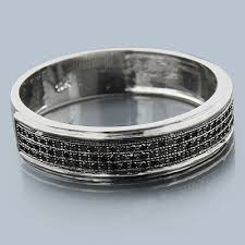 mens black diamond wedding bands 10k gold black diamond wedding band 0 28ct