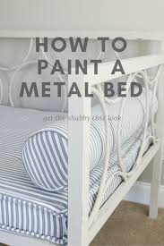 Paint Metal Bed Frame Metal Daybed Makeover Refresh Restyle