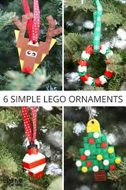 simple to make lego ornaments for to make