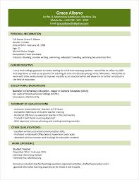General Resume Template Microsoft Word Word Format For Resume 10 Sample In Printable New Curriculum Vitae