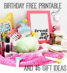 treat yo self birthday free printable 5 gift ideas
