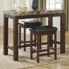 marble top bar table signature design by ashley kraleene 3 piece counter table set with