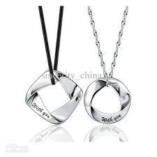 Couple Name Necklace Wholesale 925 Sterling Silver Couple Pendant Platinum Plating A