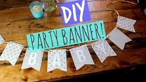 party banner diy party banner