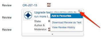 using favorites atlassian documentation