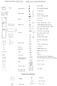 architecture drawing symbols for installations in buildings u to