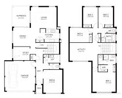 4 bedroom house blueprints 4 bedroom 2 floor house plans luxihome