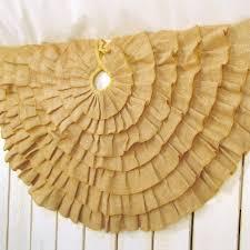amazon com 48 inch round ruffled burlap christmas tree skirt by