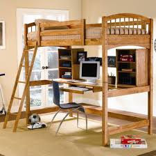 bedroom design appealing twin loft bed with computer desk and