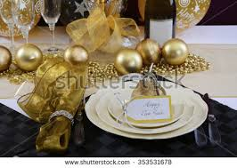 happy new years dinner stock photo 353531678