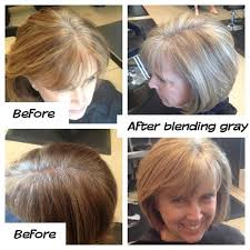 how to grow in gray hair with highlights mature style growing out gray hair holy hair south hair mom hair