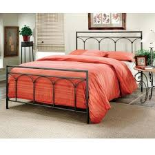 Iron Bed Set Hillsdale Brown Steel Metal Bed Set Without Frame King