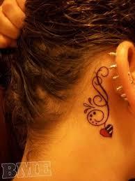 Tattoo Ideas For Behind Ear 60 Pretty Designs Of Ear Tattoos Tattoo Designs Feminine And
