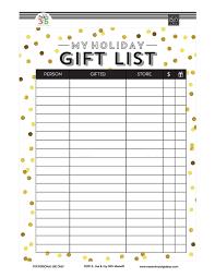 gift list free printables me my big ideas